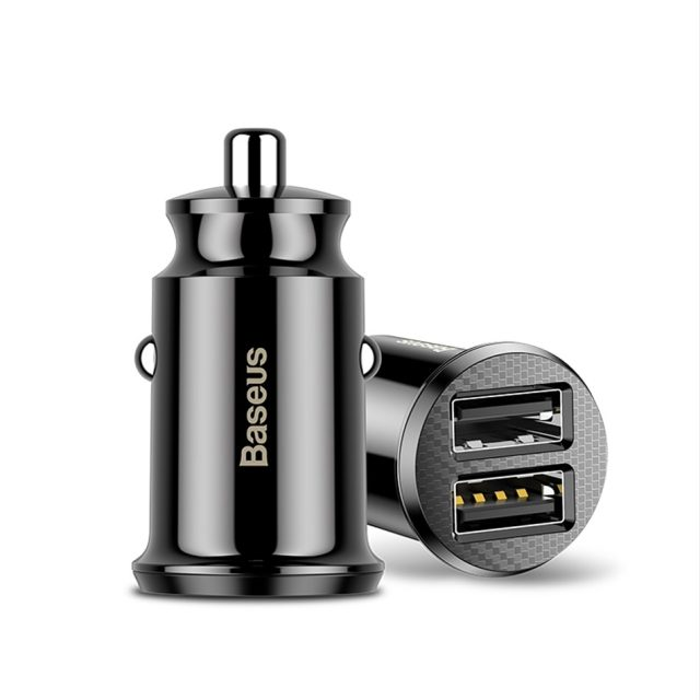 Baseus Mini USB Car Charger For Mobile Phone Tablet GPS 3.1A Fast Charger Car Charger Dual USB Car Phone Charger Adapter in Car-in Car Chargers from Cellphones & Telecommunications on Aliexpress.c
