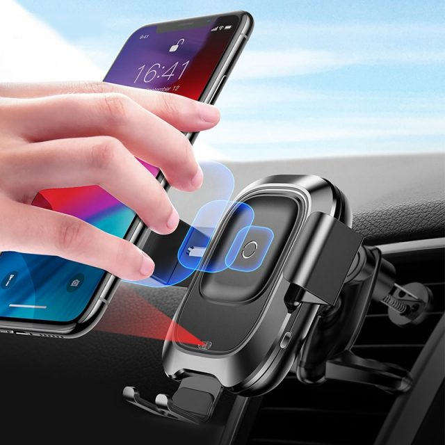Baseus Qi Car Wireless Charger For iPhone Xs Max Xr X Samsung S10 S9 Intelligent Infrared Fast Wirless Charging Car Phone Holder-in Car Chargers from Cellphones & Telecommunications on Aliexpress.