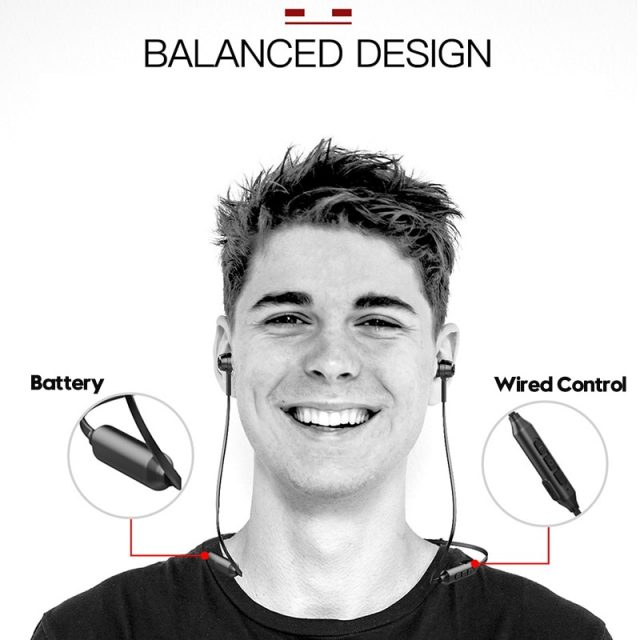 Baseus S06 Neckband Bluetooth Earphone Wireless earphones For Xiaomi iPhone earbuds stereo auriculares fone de ouvido with MIC-in Bluetooth Earphones & Headphones from Consumer Electronics on Alie