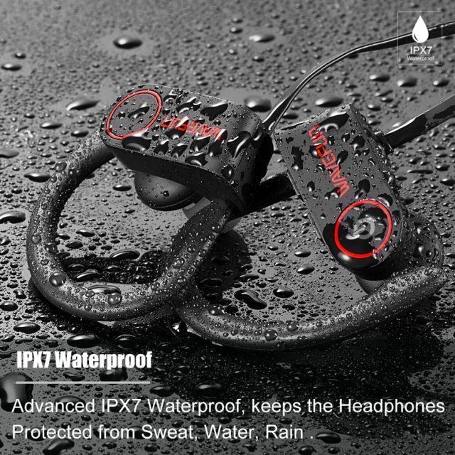 Wavefun Bluetooth 5.0 headphones IPX7 waterproof AAC wireless earphones sports bass earbuds with mic for iPhone xiaomi Huawei-in Bluetooth Earphones & Headphones from Consumer Electronics on Aliex