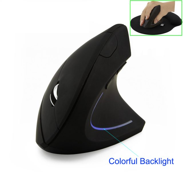 CHYI Wireless Mouse Ergonomic Optical 2.4G 800/1200/1600DPI Colorful Light Wrist Healing Vertical Mice with Mouse Pad Kit For PC-in Mice from Computer & Office on Aliexpress.com | Alibaba Group