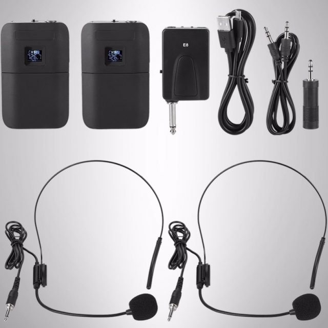 2/Set Wireless VHF Microphone System Receiver Transmitter Lavalier Lapel Microphone Receivers with LED Screen Display-in Microphones from Consumer Electronics on Aliexpress.com | Alibaba Group