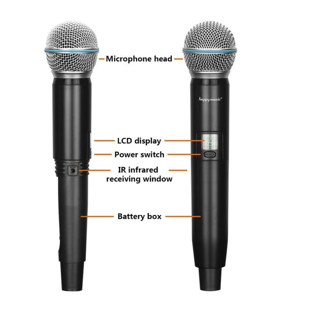 New High Quality Professional  Dual Wireless Microphone System stage performances a two wireless microphone-in Microphones from Consumer Electronics on Aliexpress.com | Alibaba Group