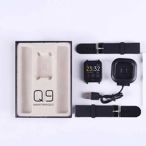 VERYFiTEK Q9 Blood Pressure Heart Rate Monitor Smart Watch IP67 Waterproof Sport Fitness Trakcer Watch Men Women Smartwatch-in Smart Watches from Consumer Electronics on Aliexpress.com | Alibaba Group