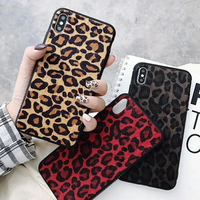 USLION Plush Leopard Print Phone Case For iPhone 6 7 8 Plus X XR XS Max Leopard Cases For iPhone 6 6S Plus Phone Bag Back Cover-in Fitted Cases from Cellphones & Telecommunications on Aliexpress.c