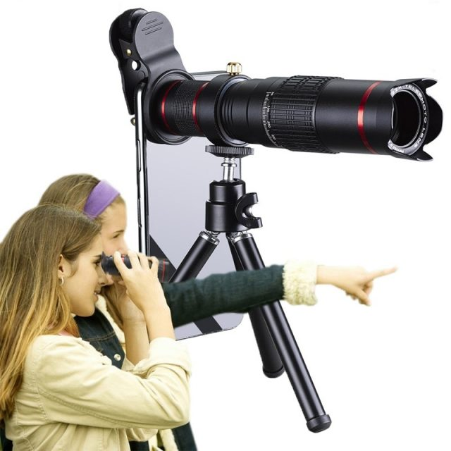 Orsda HD Mobile Phone Telescope 4K 22x Zoom Telephoto Lens External Smartphone Camera Lenses For IPhone Sumsung Smartphone-in Mobile Phone Lenses from Cellphones & Telecommunications on Aliexpress