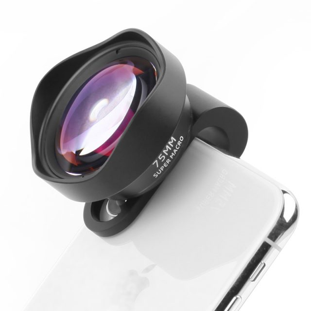 Pholes 75MM Mobile Macro Lens Phone Camera Macro Lenses for iPhone Xs Max XR X 8 7 Samsung S9 S8 S7 Piexl Clip On 4K HD Lens-in Mobile Phone Lenses from Cellphones & Telecommunications on Aliexpre
