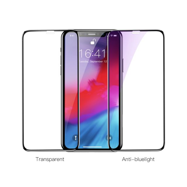 Baseus 0.3mm Screen Protector Tempered Glass For iPhone Xs Max X Xr S 3D Full Cover Protective Glass For iPhone Xsmax Protection-in Phone Screen Protectors from Cellphones & Telecommunications on
